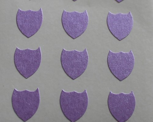 150 Etiquetas, 10x8mm Forma De Escudo, Púrpura, pegatinas autoadhesivas, Minilabel Formas