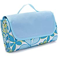 Leorx impermeabile Outdoor Beach camping picnic Mat (Blue Flower)