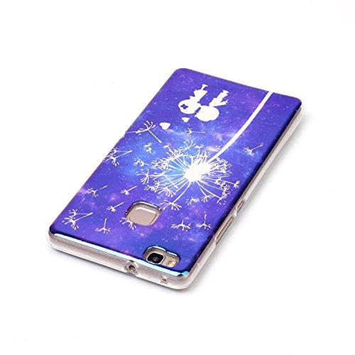 Voguecase® für Apple iPhone 7 Plus 5.5 hülle, Schutzhülle / Case / Cover / Hülle / TPU Gel Skin (Marmor/Schwarz) + Gratis Universal Eingabestift Blaues Licht/Klein Liebhaber 06
