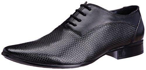 Bata Men's Shine Black Leather Formal Shoes - 7 UK (8246135)