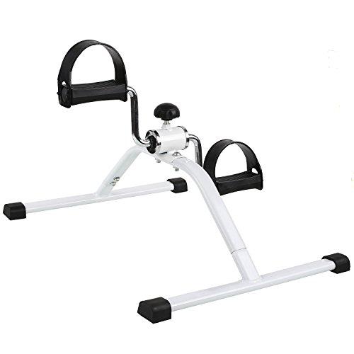 MVPOWER Fitness Minifahrrad Beintrainer Trainiert Arm- , Beinmuskulatur & Ausdauer Vitaltrainer Trainingsgerät Bewegungstrainer Arm und Beine Pedaltrainer, ideal für Zuhause oder mehr