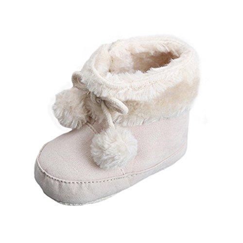 Clode® Snow Boots Soft-Krippe Schuhe Kleinkind Stiefel für Madchen Baby Khaki