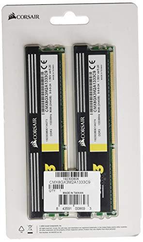 4GB) DDR3 1333 MHz (PC3 10666) Desktop Arbeitsspeicher (CMX8GX3M2A1333C9) ()