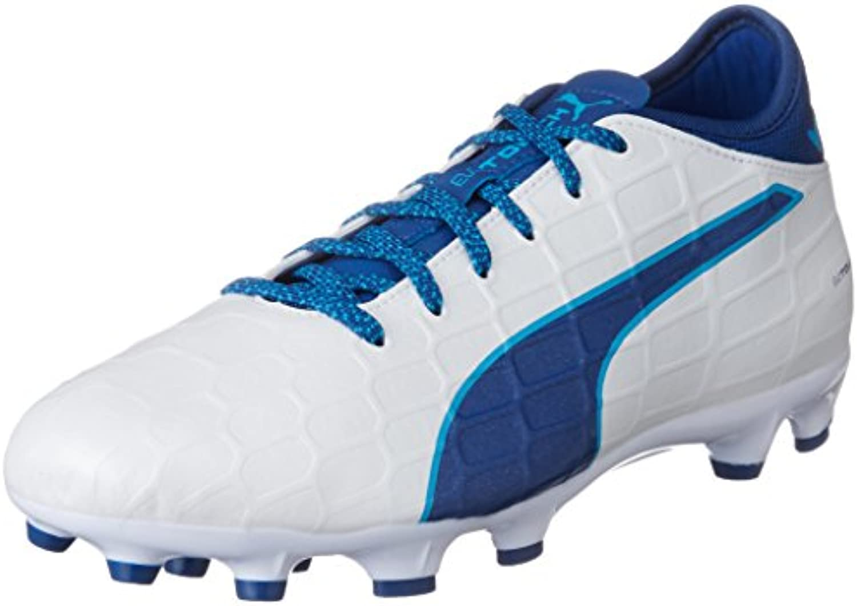 Puma Herren EvoTouch 3 A Fußballschuhe  weissszlig White True Blue Blue Danube 02  40 EU