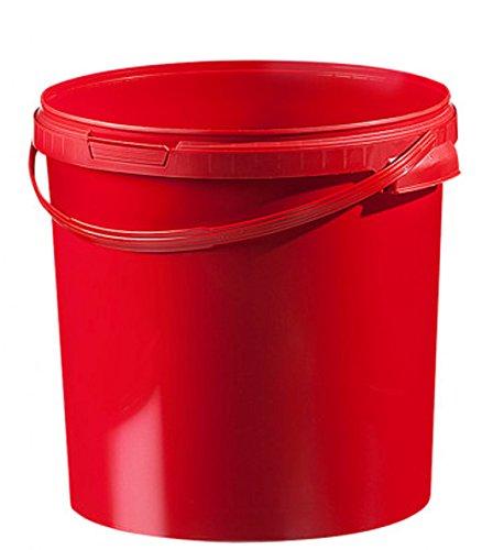 Eimer farbig 21,1 ltr. mit Deckel (1 Stück) (rot) ()