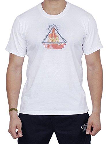 Storeindya T-Shirts Yoga Wear Weiß Unisex Comfort 100% Baumwolle Meditation Laufen Sportlich Strand Sport Workouts Gym…