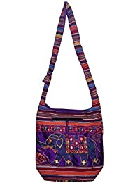 Gaurapakhi Rajasthani Collection And Ethnic Cotton Handmade Handbag With Multicolor For Women's - B07D7HWBD3