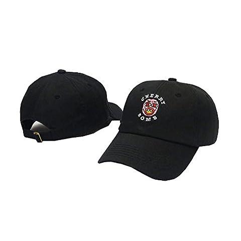 Motuoruola-PP Unisex Adjustable Fashion Leisure Baseball Hat Golf Wang Cherry Bomb Snapback Dual Colour Cap - White Golf Cap