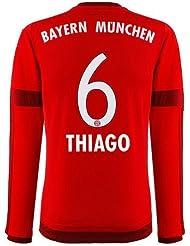 Jersey Adidas FC Bayern Munich 2015-2016 Home - Thiago [Size S Long Sleeve]