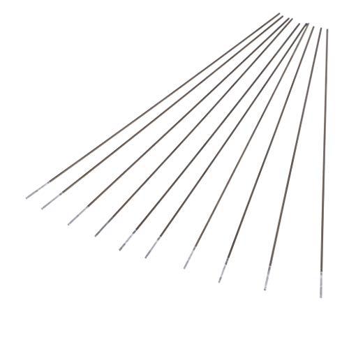 perfk 10x Electrodo de Tungsteno Puro Bricolaje Hrramienta Equipos indumentaria de Seguridad - Plata, Tipo 1