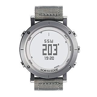 Formulaone North Edge Range Smart Outdoor Sportuhr Klettern Wandern Schrittzähler Höhenmesser Barometer Kompass Wasserdichte Uhr - Silber