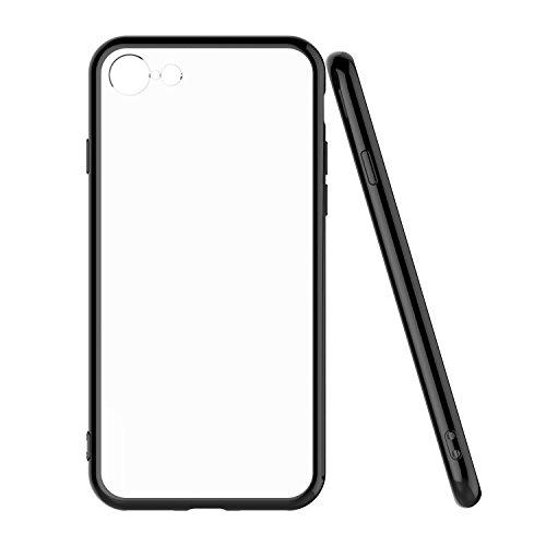 iPhone 8 Hülle, iPhone 7 Hülle - iHarbort iPhone 7/ 8 ultra dünne TPU Silikon-Gel-Abdeckung Schutzhülle mit matter Oberfläche für das Apple iPhone 7/ 8, Schwarz Schwarz