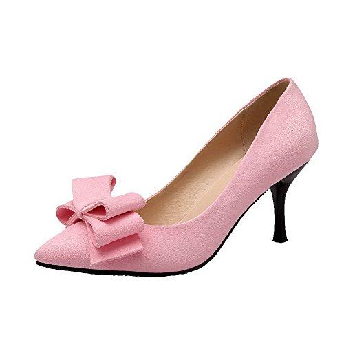 Sapatos Dedo Bombas Senhoras Bulbo Apontado De Reinziehen Rosa Alto Em Salto Vidro Allhqfashion Fosco AAxfa1O
