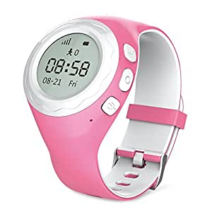 WATCHU - Protecting Your Teenage Daughters With The Ultimate Watch. Built In SOS Button Direct Call To Your Mobile (Teen Disco) - UK App - UK Company - UK Technical Support (Princess Pink)