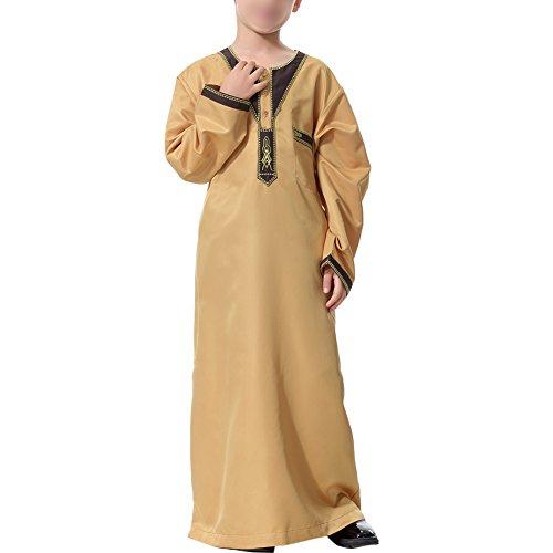 Kostüm Arabische Saudi Kinder - Haodasi Kinder Kurta Arabisch Islamisch Kostüme Ethnische Kleidung Jugend Robes Kids Jungen Dishdasha Muslim Thobe Volle Länge Türkei Mittlerer Osten Dubai Kandoura,TH872