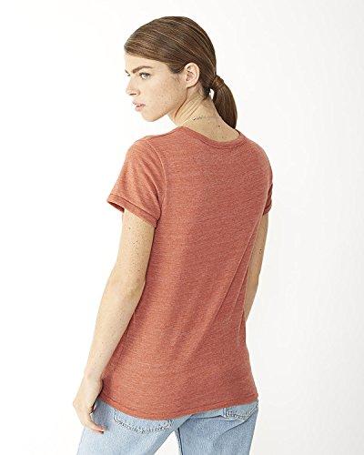 Alternative idéale pour femme col ras du cou à manches courtes T-shirt Rouge - ECO TR CINNABAR