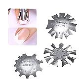 Schneespitze 3 Pcs Maniküre Rand Trimmer Nail Art Edge Trimmer Französisch Smile Line-Tools Metall Schablone Cutter für Acryl French Nägel