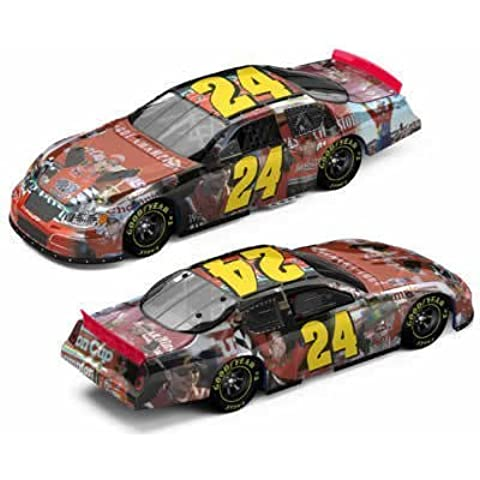 2005 Jeff Gordon 4X Four Time Winston Cup NASCAR Champion Milestones Photo Tribute Monte Carlo 1/24 Action Racing Collectables Hood, Trunk Open Only 5004 Made by Action Racing Collectibles
