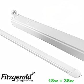 4foot 4' 4ft LED Low Energy Single Tube Strip Light batten 1200mm Fitting T8 Fitting 18w = 36w Daylight Cool White
