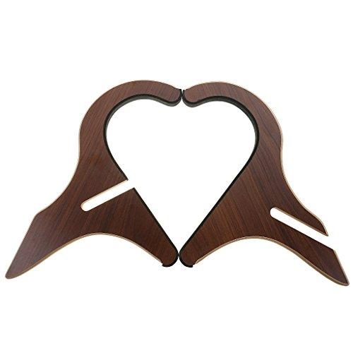 Perfeclan Supporto Pieghevole Di Legno Per Chitarra Stand Di Ukulele Mandolino Banjo Violino Pipa Pipetta - marrone, 18x24cm