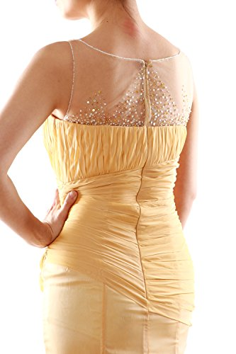 MACloth Women Mermaid Chiffon Long Prom Dress Formal Evening Party Ball Gown Menthe