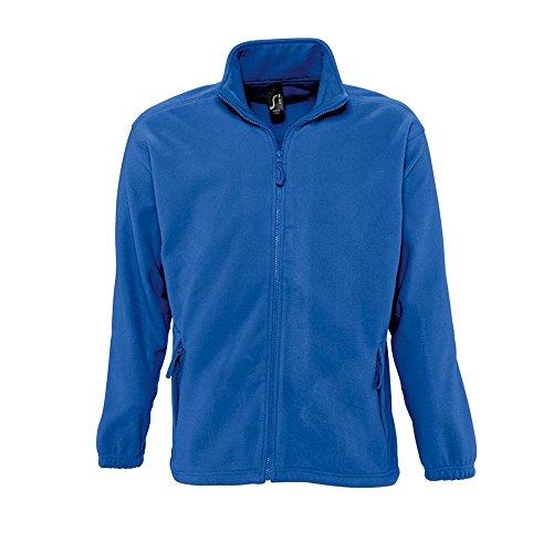 Sols - Fleecejacke 'North' bis Größe 5XL M,Royal Blue (Rücken-reißverschluss-tasche)