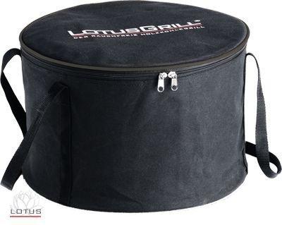 LotusGrill Tragetasche! Speziell entwickelt für den rauchfreien Holzkohlegrill/Tischgrill! Transporttragetasche in Farbe Schwarz!