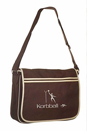 Retro Messenger Bag BG71 gold/schwarz Korbball