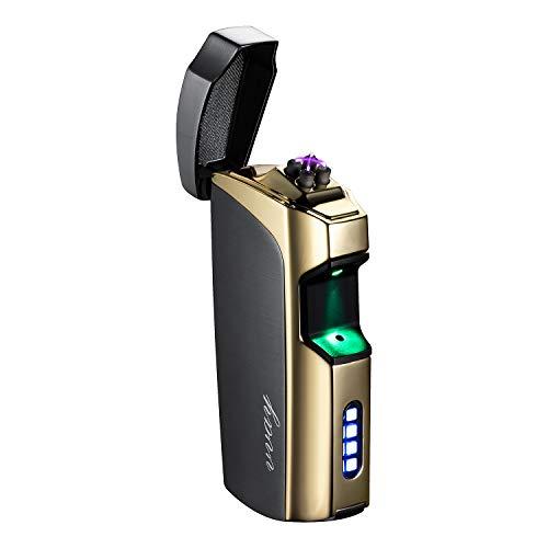 VVAY Elektro Feuerzeug Elektronisches Doppelter Lichtbogen USB Aufladbar Flammenlose Windfeste
