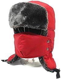 HTQ Inverno Caldo Spesso Lei Lei cap Uomini E Donne Cappello da Sci  Antivento in Cotone Northeast Outdoor Ciclismo Cappello Freddo… 21eb302c5ab3