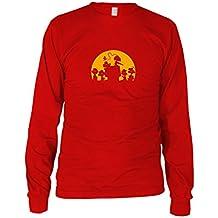 Walking Peanut - Herren Langarm T-Shirt