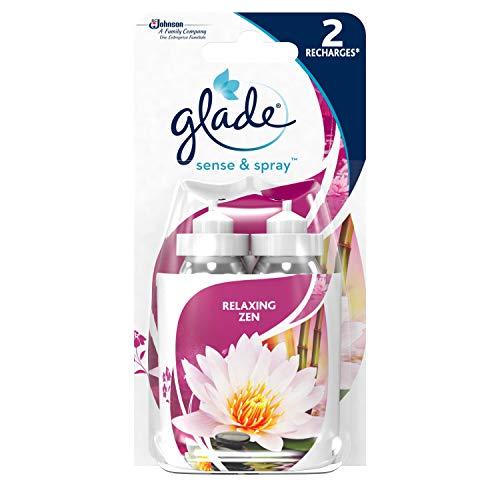 Glade By Brise Recharges pour Diffuseur Sense & Spray, Fraîcheur et Parfum d'Ambiance dans la Maison, 18 ml, Senteur Relaxing Zen, Lot de 2