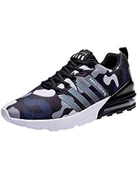 Logobeing Zapatillas Deporte Hombres Running Zapatos Hombre Deportivos Casuales Zapatillas Running Hombre Auriculares Correr en Asfalto