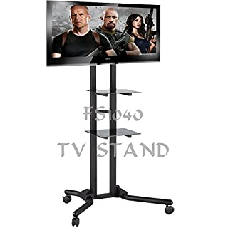 Allcam FS1040 60 Inch Portable Flat Panel Floor Stand Black Flat Screen Base – Flat Screen Bases (Black, Portable Flat Panel Floor Stand, 152.4 cm (60 inches), TV, 40 kg, 102 cm (40 inches)
