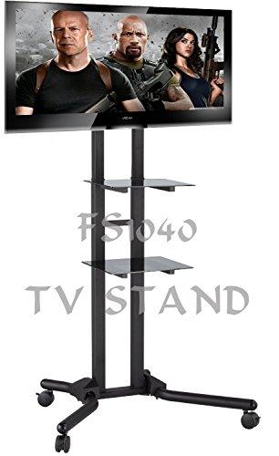 FS1040-2m hohen TV Trolley Floor mit Halterung für LCD/Plasma-TVs & Glasregale Stehen -