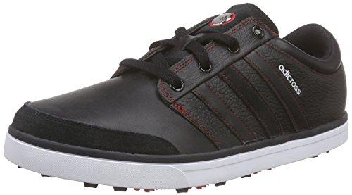 adidas Adicross Gripmor, Scarpe da Golf Uomo, Nero (Black / White / Light Scarlet), 43 1/3 EU