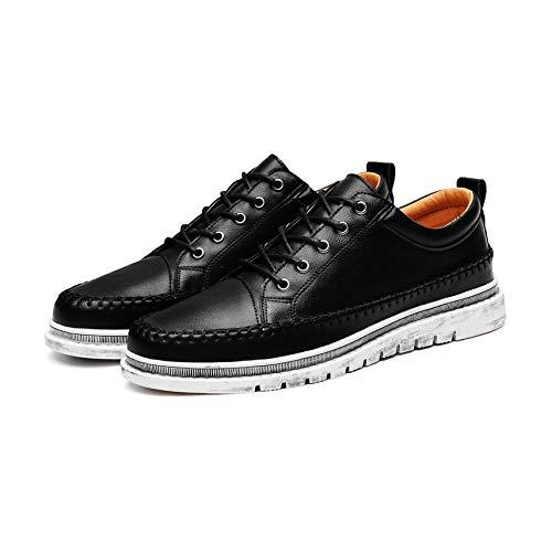 Preisvergleich Produktbild Mogustore Estilo de otoño invierno Zapatos de hombre con cordones Zapatos de cuero de estilo alto con cordones Planos suaves con zapatos casuales Zapatos masculinos vintage