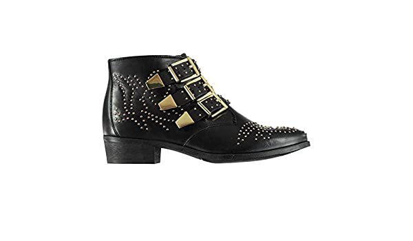 Bronx Womens Breza Buckle Ankle Boots