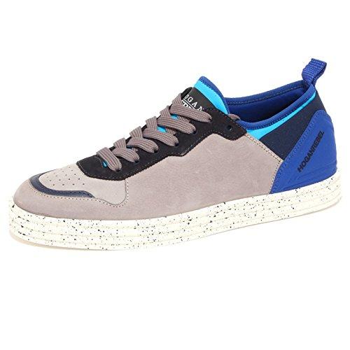 3795Q sneaker uomo HOGAN REBEL scarpa tortora shoes men tortora/blu