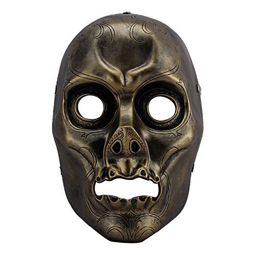 TYI Festivalmaske Halloweenmaske, Film-Thema, Harry Potter Death Eater Harz, dekorative Maske - für Maskenball-Bühnenaufführungen Bars