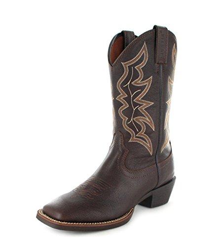 Justin Boots Herren Lederstiefel 2568 Westernreitstiefel Braun, Groesse:47 (14 US)