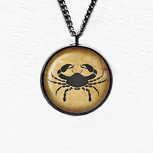 Zodiac Symbol Astrology Cancer Astrologie Krebs Anhänger Halskette