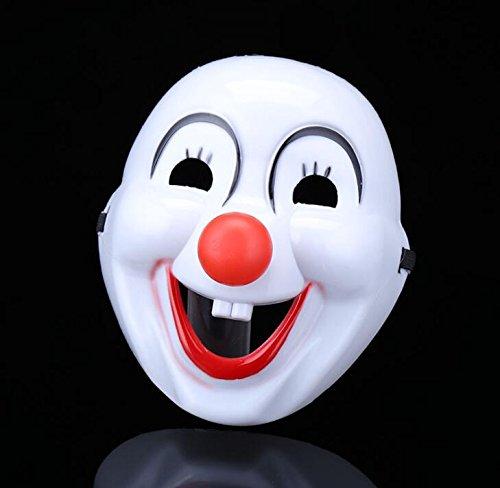 ty Maske Clown Nase Maske Cartoon Karneval Partys Maske (weiß) ()