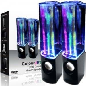 2 casse speaker effetto acqua led 3wx2 mini usb 3 5mm for Casse per tv