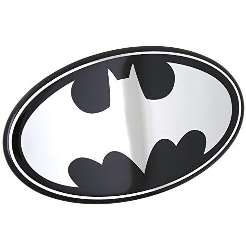 Fan Emblems Batman Logo Auto Aufkleber gewölbt/schwarz / verchromt, DC Comics Automotive Emblem Gilt leicht für Autos, LKW, Motorräder, Laptops, Handys, Windows, etc.