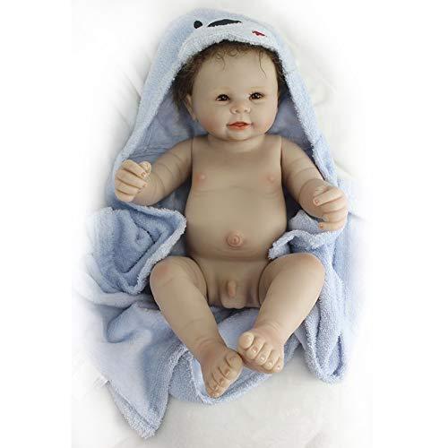 Nicery de Muñecas Reborn 20 Inch 48-50 cm Suave de Vinilo de Silicona Regalo para niño y niña Regalo de cumpleaños y Navidad ot50001z