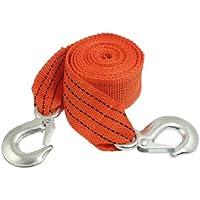 Per auto e camion, Cintura in Nylon, colore: arancione, capacità 3 t, 9.84 ft-Cinghia da rimorchio con gancio - Cinghia Di Traino In Nylon