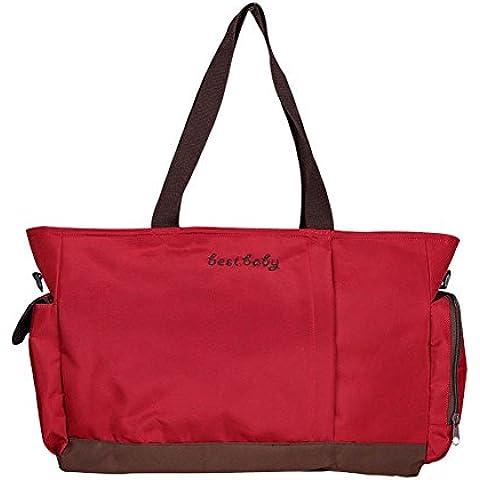 A mano mummia sacchetto multifunzionale grande capacità Out di viaggio Madre impermeabile e pacchetto del pannolino del bambino fasciatoio Fashion Bag Bill di spalla di carico delle donne Borsa