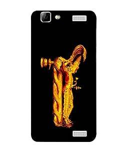 PrintVisa Designer Back Case Cover for Vivo V1 Max (Lord Vishnu Idol In Golden Colour)