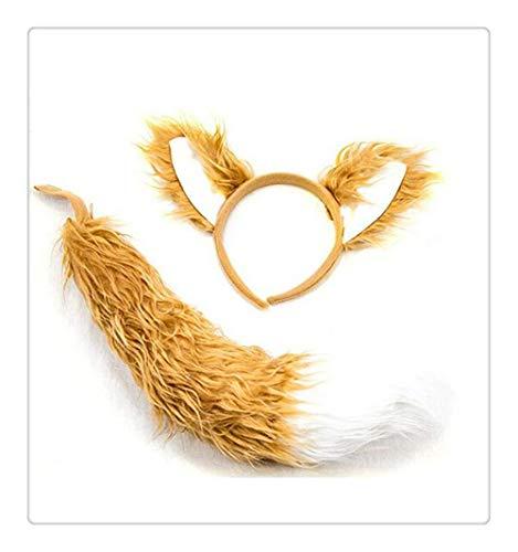 Z-one 1 Haarreif für Weihnachten, Halloween, Festival, Cosplay, echtes Gefühl, langes Haarband, Tiere, Katze, Tiger, Affe